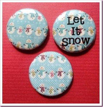 Snowman Christmas badge