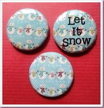 Snowman Christmas badge