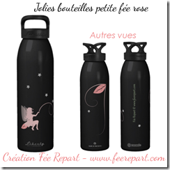Jolie bouteille fée rose avec plusieurs vues-fee-repart