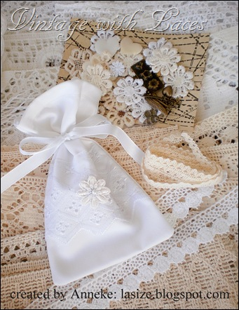 Lavender bag and lace