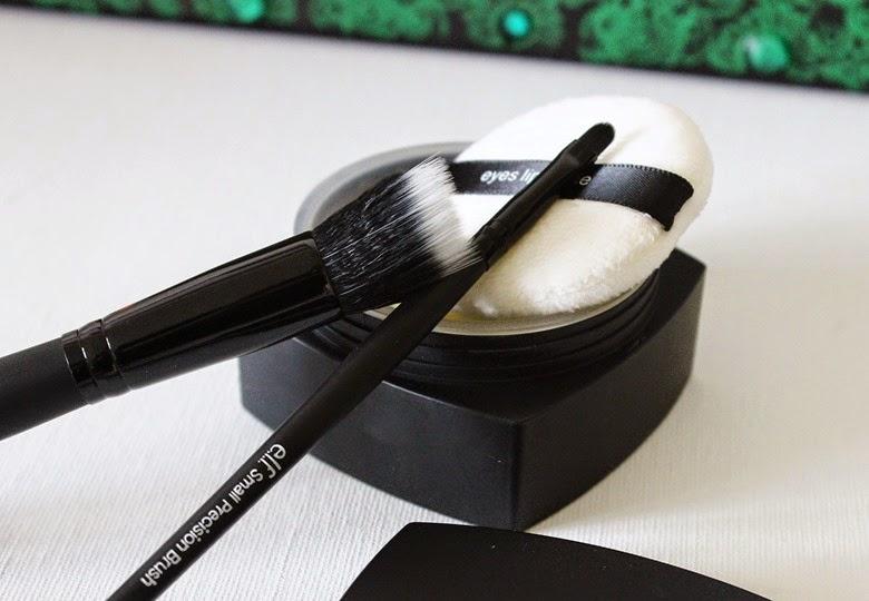 elf hd powder corrective yellow small stipple brush small precision brush