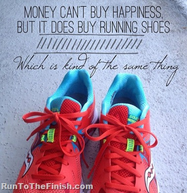 Running shoes are happiness