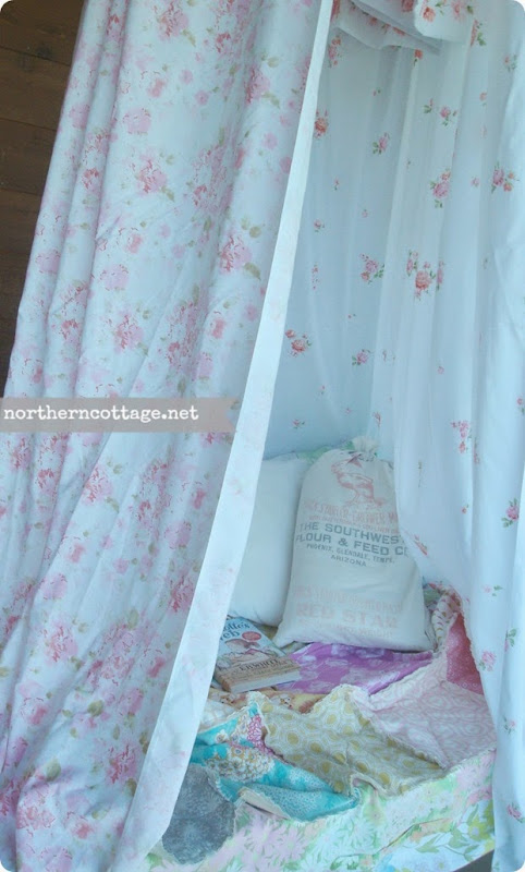 Vintage Sheet Canopy {NorthernCottage}