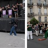 Photographes à l'affût....capoeira sur le pont