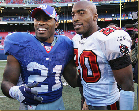 Ball-playing, book-writing brothers Ronde and Tiki Barber.
