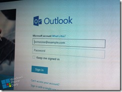 outlook login page