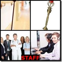 STAFF- 4 Pics 1 Word Answers 3 Letters