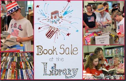 book sale collage