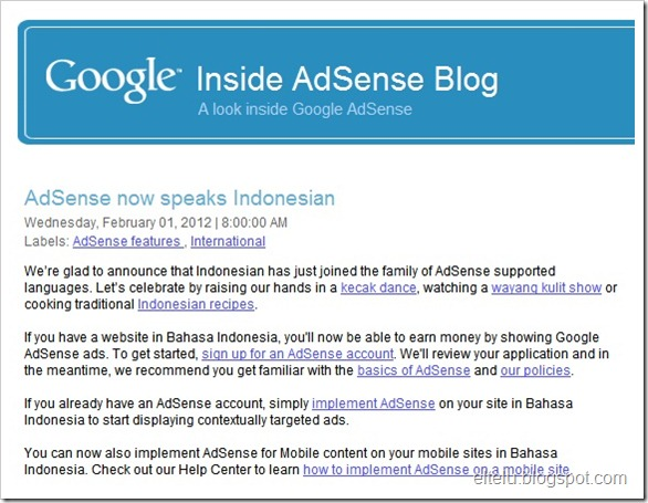 Adsense Support Bahasa Indonesia