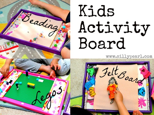 The Silly Pearl {Handmade} Kids Activity Board