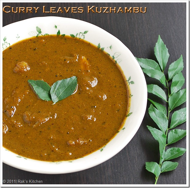 Curry-leaves-kuzhambu-recipe