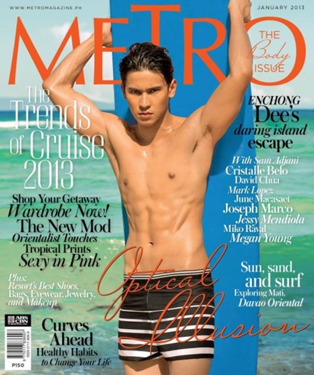 Enchong Dee on Metro Jan 2013 cover