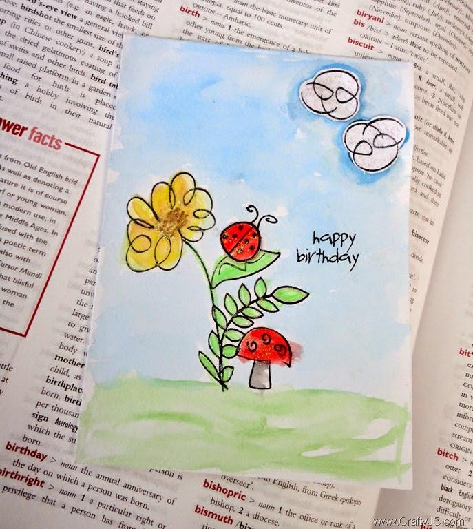 CraftyJC Birthday PTI Springtime Doodles