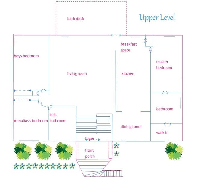 our home floor plan upper level