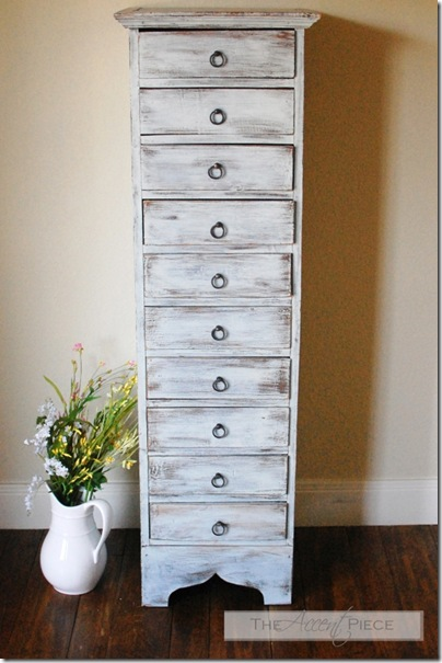The Accent Piece - drybrushed chest of drawers after 070411