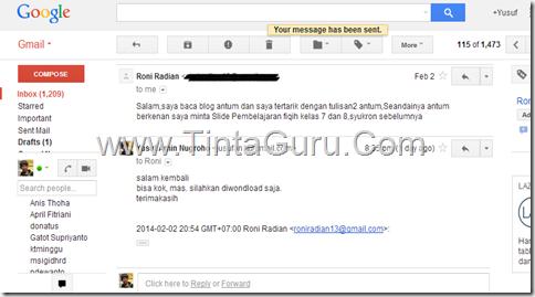 email untuk tintaguru
