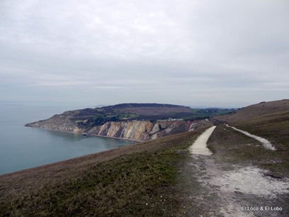 multicoloured sands of Alum Bay
