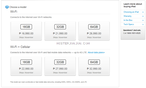 LEAKED: Alleged iPad mini Pricing for the Philippines