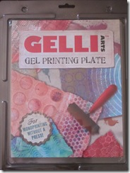 Gelli Arts gel printing plate