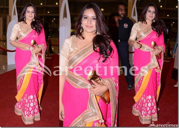 Pooja_Gandhi_Pink_Saree