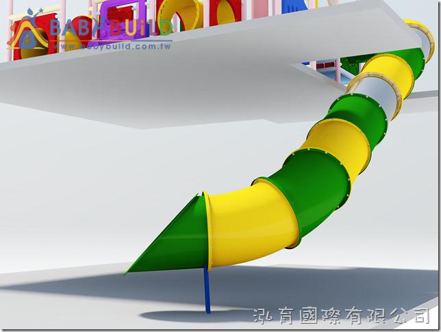 BabyBuild 樓梯口泡泡隧道滑梯設計