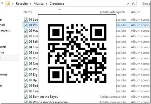 Codice QR generato da qrSend