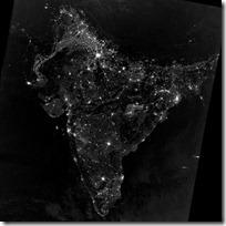 foto bumi malam hari dari nasa - asia selatan saat perayaan diwali