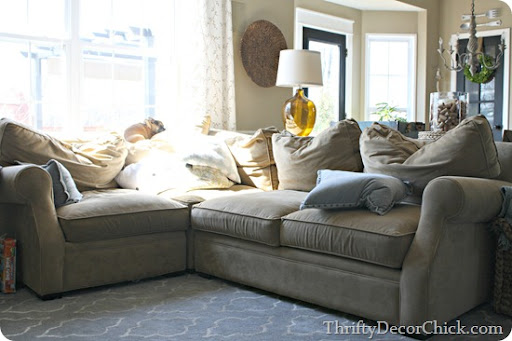 Many have asked how itu0027s held up and how the cushions do and that photo above shows that yes the back cushions do get smashed : arhaus sectional - Sectionals, Sofas & Couches