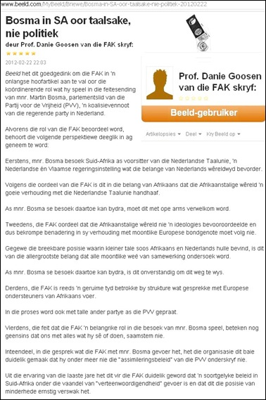 BOSMA MARTIN PROF DANIE GOOSEN ARTIKEL BEELD FEB 22 2012