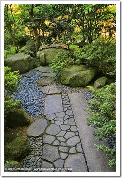 Succulents and more gbfling14 portland japanese garden for Japanese garden structures wood