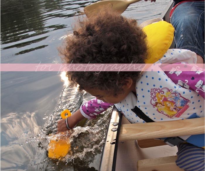 paddling the lake