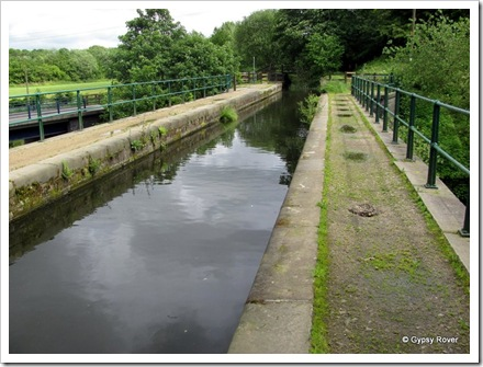 Aqueduct over the river Irwell, Burrs Country Park. Water supply for the Manchester, Bolton & Bury canal.