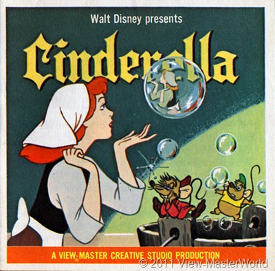 View-Master Walt Disneys Cinderella (B318), Packet Cover