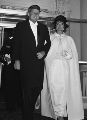 John F. Kennedy and Jackie Kennedy at 1961 inaugural ball