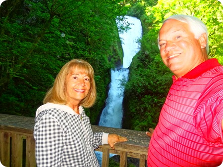 us and Bridal Veil Falls