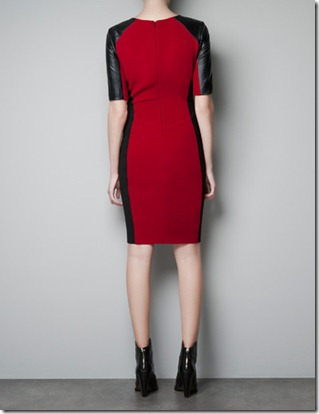 ZR leather tailored dress1