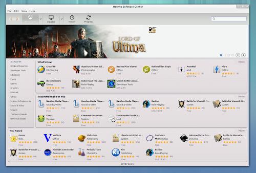 Ubuntu Software Center in Ubuntu Gnome Remix
