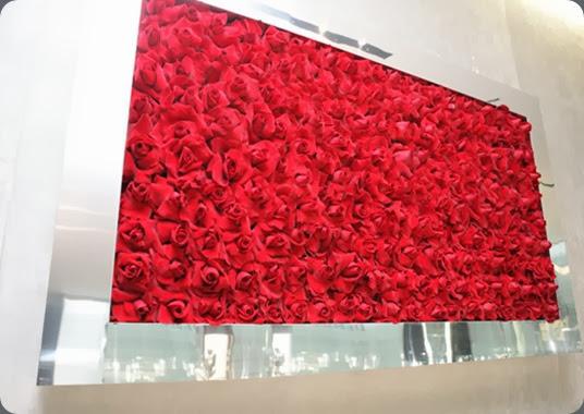 wall reflexed roses DEBEERS3 floral art