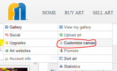customize canvas