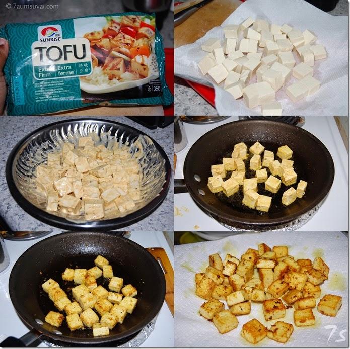 Tofu tawa masala process 1