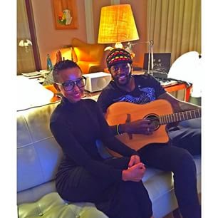 HUDDAH MONROE  WITH ADEBAYOR EMMANUEL.
