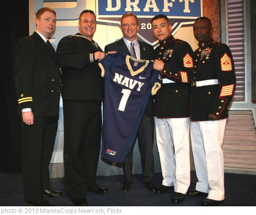 'Navy, Marines present jersey to NFL commissioner, 75th NFL Draft' photo (c) 2010, MarineCorps NewYork - license: http://creativecommons.org/licenses/by/2.0/