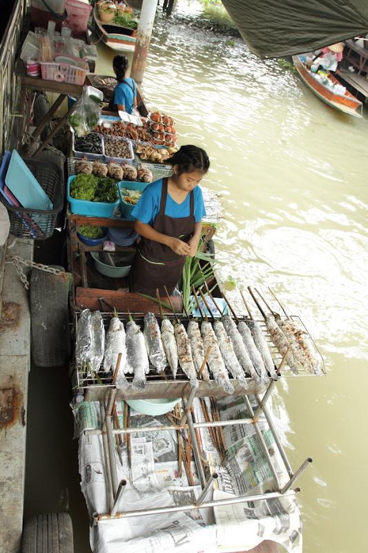 Food Stalls at Taling Chan Floating Market, Bangkok