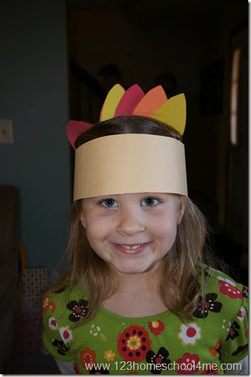 Native American Headress Thanksgiving Craft for Kids