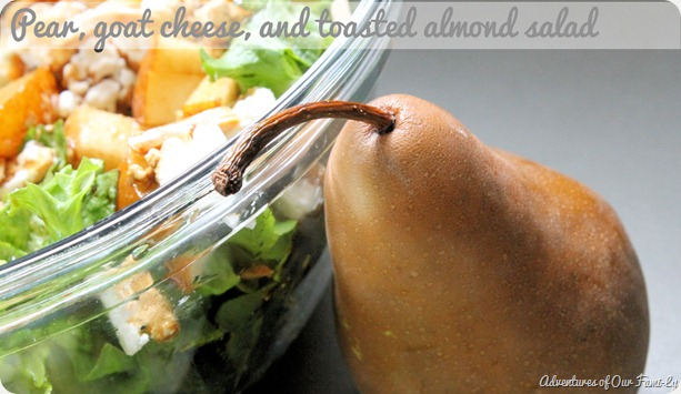 pear and goat cheese salad recipes
