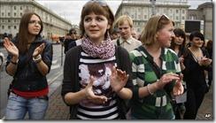 Belarus silent protest