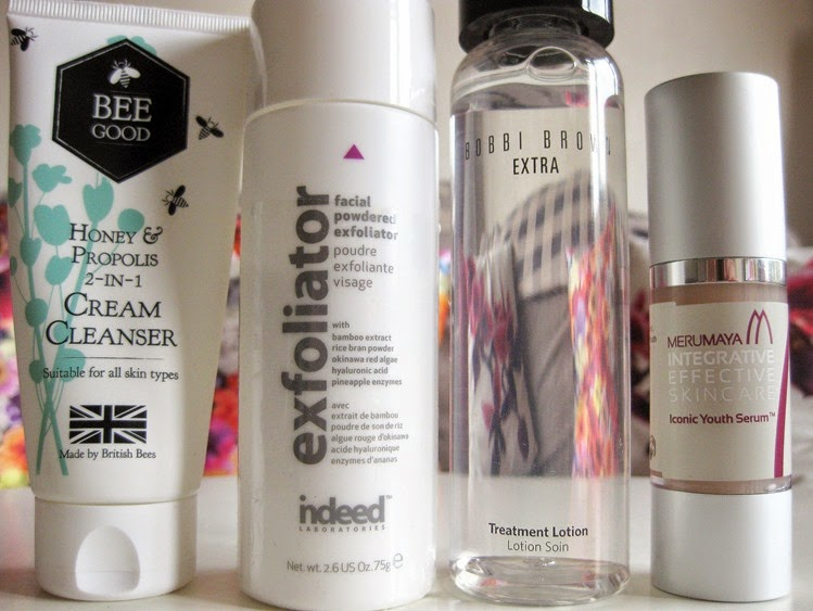 Bee-Good-Cream-Cleaneser' Indeed-Labs-Exfoliator,Bobbi-Brown-Extra,Merumaya-Iconic-Serum