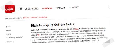 Nokia vende il progetto Qt a Digia