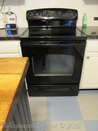 black stove