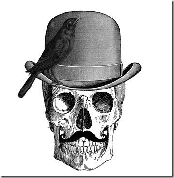 154-SkullMustacheCrow